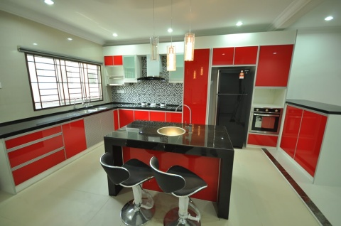 U-Shaped Kitchen with Island